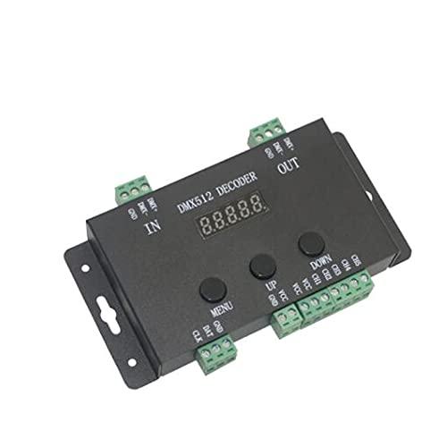 QWERTOUR DC5V-24V Regolatore Decoder Controller Addreadble RGB LED Pixel 5 canali PWM Strips