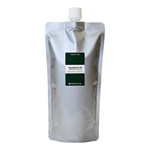 マカデミアナッツオイル [未精製] 500ml キャリアオイル (植物油 ベースオイル) アルミパック入り