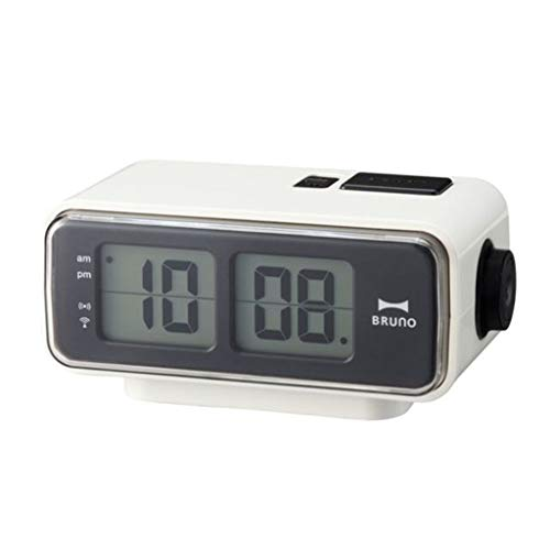 YITIANTIAN Relojes de Escritorio Luminoso Salto electrónico Palabra Reloj Mute cabedilla Despertador Reloj Dormitorio Radio Reloj Radio Reloj de Cama Silencioso (Color : A)