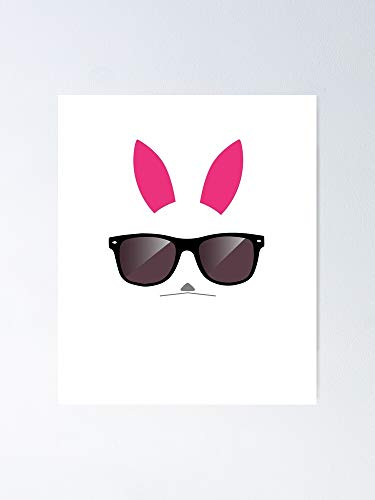 Tough Bunny Bad Rabbit Easter Bunnies with Sunglasses Poster - for Quote Print, Affordable Wall Art Printable, Gallery Wall, Family, Friends, Brother, Sister, Kids.