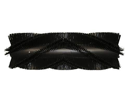 partmax® Bürstenwalze für Weidner Star 1-120 D/E, Poly 0,9 mm glatt schwarz, Walze, Walzenbürste, Kehrwalze