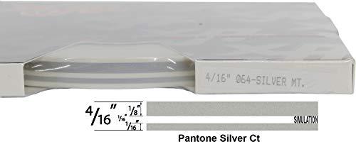 "Universal TFX 0004064 - Auto Customizing Dual Pinstripe - 4/16' x 150' (1/8"" Stripe, 1/16' Gap, Then 1/16"" Stripe) - 064-Silver Metallic"