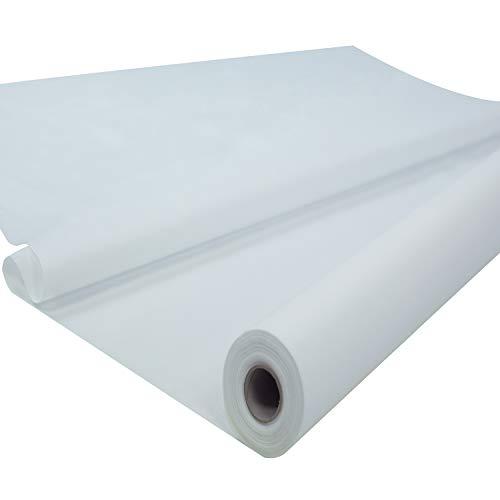 Sensalux Tischdeckenrolle, 1,18m x 25m, abwaschbare Vliesdecke, Oeko-TEX Standard 100 - Klasse I Zertifiziert, Weiß