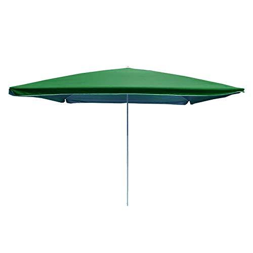ZXL Parasol de Jardin de Ø250 cm, auvent extérieur de Parasol de Protection de Parasol UV40 + pour la Plage/Piscine/Patio auvent de Parapluie accrochant, Vert