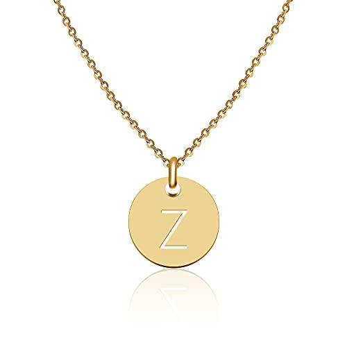 Good.Designs ® Initialen Halskette Frauen Mädchen mit Gravur Z Zoe Zoey Zoé Zeynep Zehra Zara Zümra Zahra Ziva Zofia Zoi Zuzanna Zazou Zelal Zainab Zeinab Zacharias Zain Zakaria
