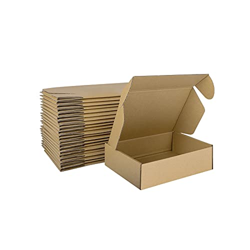 MEBRUDY 7x5x2 Inches Shipping Boxes Pack of 25, Small Corrugated Cardboard Box for Mailing Packing Literature Mailer