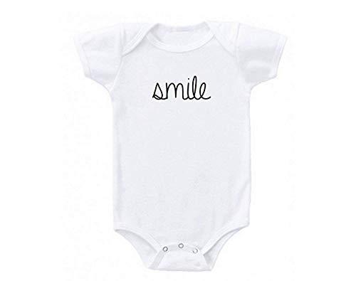 Smile Combinaison 1 pièce pour bébé Fille garçon - Blanc - Small