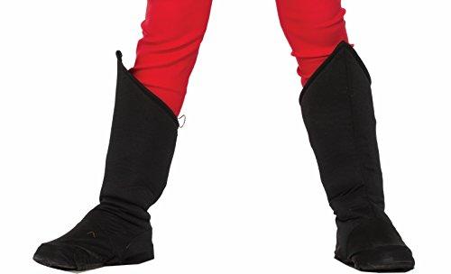 Forum Novelties Child Hero Boot Covers, Black