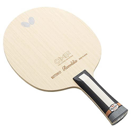 ping pong paddle butterflies 2 Butterfly Revoldia CNF Table Tennis Blade - Cellulose Nanofiber Blade - Professional Table Tennis Blade - Available in The Flared Shakehand Handle Style - Made in Japan