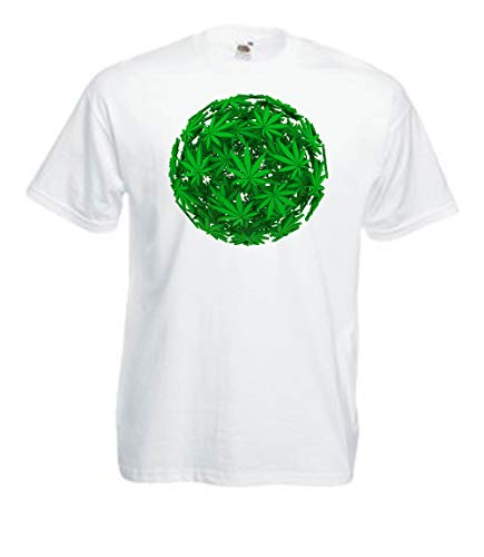 MFAZ Morefaz Ltd heren dames T-shirt Ganja Leaf Weed Rasta Gitaar Short Sleeve Wereld 420