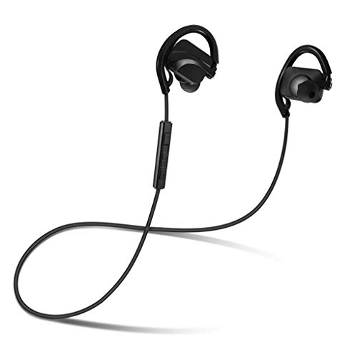 Wireless Bluetooth Headset Elastic Neck Strap Bluetooth Earbuds Best Wireless Sports Headphones In-Ear Stereo and Microphone - for IPhone and Android Cars, Gym, Sports, Outdoors ( Color : Black )