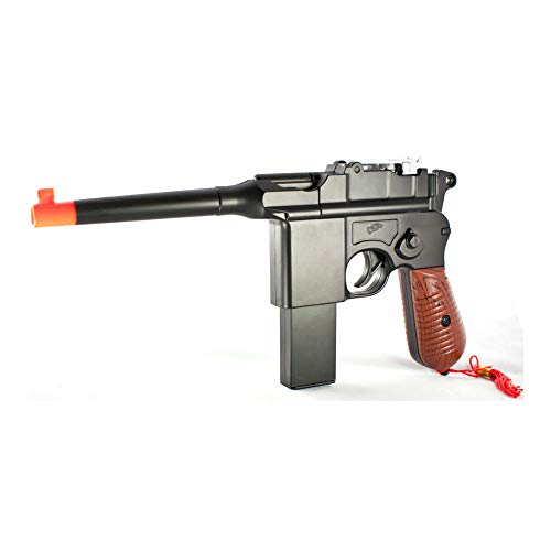 New WW2 MAUSER BROOMHANDLE C96 German Airsoft Spring Hand Gun Pistol w/ 6mm BB