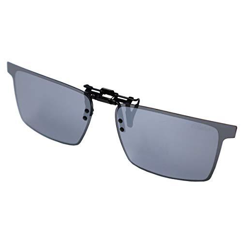 クリップオンサングラス アルゴスグレイ2 AG-3 偏光グラス ソフト布袋+メガネ拭き付 冒険王 視泉堂 (AG-3A)