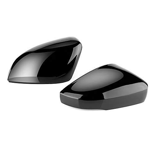 JUN-STORE SENMIAO-TH 2 Piezas for VW for Golf 6 MK6 GTI R 6 R20 for Touran ABS opinión de Lado Trasero Cubierta del Espejo de reemplazo Caps Shell Recorte Negro