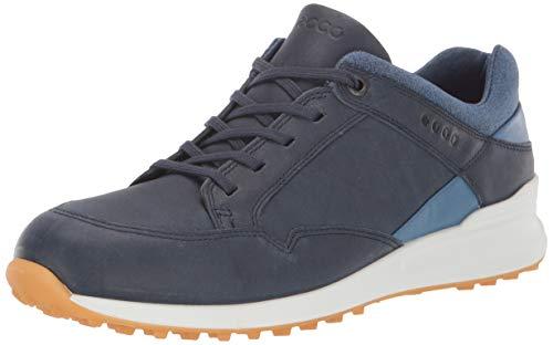 Ecco Rue Retro Chaussures en cuir golf imperméables - Marine - UK4.-4.5