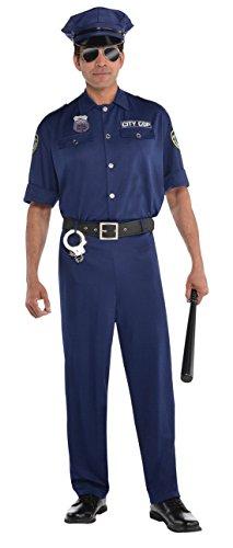Confettery - Herren Classic Polizistenkostüm, Blau, Größe M