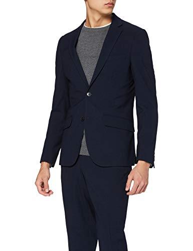 find. Veste de Costume Homme Coupe Slim, Bleu (texture marine)., 54R, Label: 44R