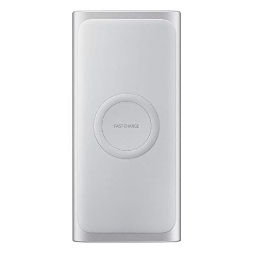 Samsung Wireless Charger Portable Battery, 10000mAh - Silver (EB-U1200CPEGWW)