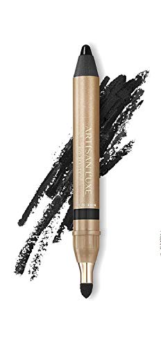 Artisan L'uxe Beauty Velvet Jumbo Eyeliner Pencil - Smokey Eyes in 3 Minutes - Water-Resistant, Smudge-Proof, Long-Lasting - Age-Defying Essential Oils - Midnight (Shade: Black)