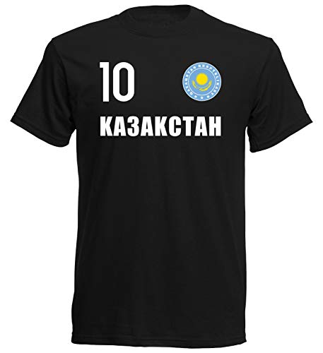 Nation Kasachstan T-Shirt Trikot Wappen FH 10 SC (L)