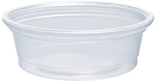 Dart 050PC 0.5 oz Clear PP Portion Container (Case of 2500)