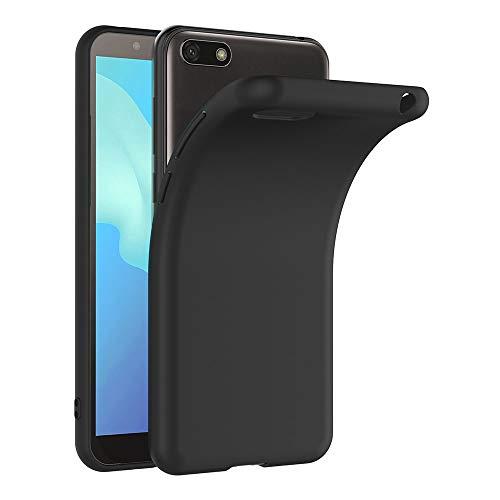 AICEK Coque Huawei Y5 2018, Noir Silicone Coque pour Huawei Y5 2018 Housse Y5 2018 Noir Silicone Etui Case (5,45 Pouces)