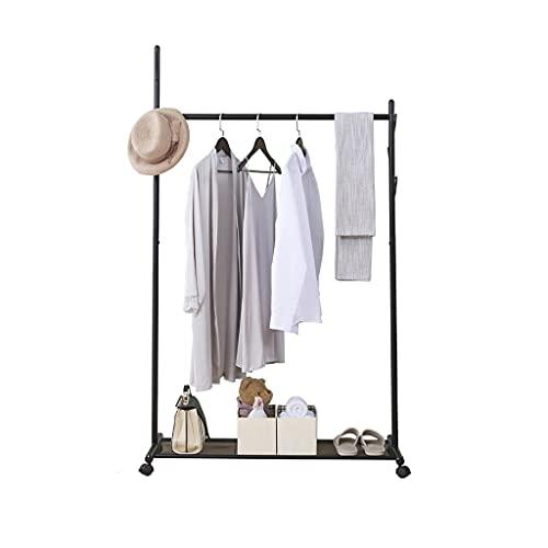 MQH Hogar Coat Rack Abrigo de Metal Banco de Zapatos Banco Alto árbol con Estante de Almacenamiento para la Percha de vestíbulo de vestíbulo. (Color : Black, tamaño : 100cm)