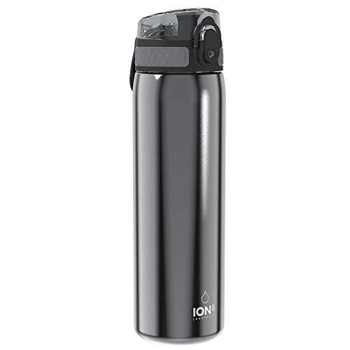 Ion8 Borraccia Acciaio Inox Senza Perdite, 600 ml, Grigio