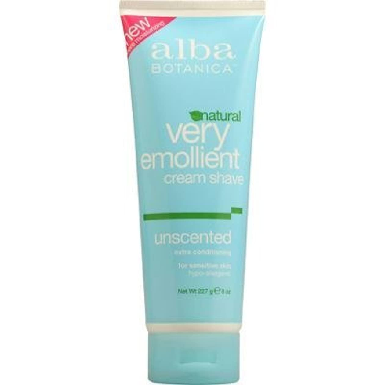人生を作る酸豆腐Alba Botanica: Very Emollient Cream Shave Unscented 8 oz (3 pack) [並行輸入品]
