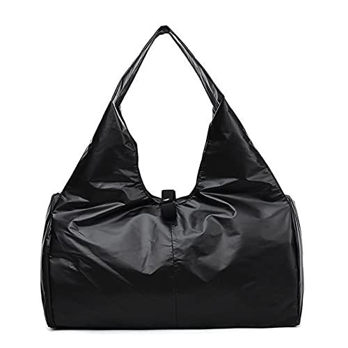 REGJ Yoga Mat Bag Gimnasio Bolsos de Fitness para Mujeres Hombres Entrenamiento Sac de Deporte Viajes Gimnasios Deportes al Aire Libre (Color : Glitter Black)
