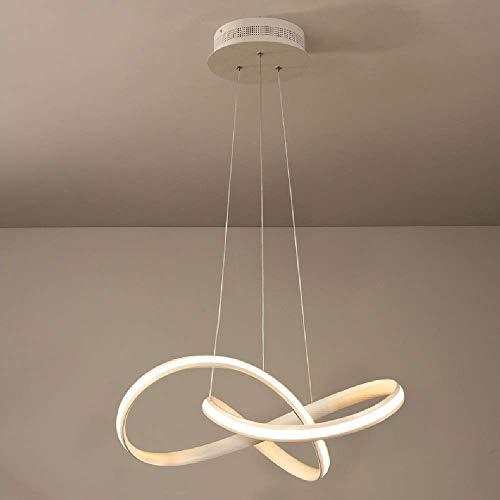 GaoF Accesorio de iluminación Colgante de Isla de Cocina Elegante y Moderno 45W LED Anillo de luz Blanca cálida Luz Colgante Lámpara de Techo de aleación de Aluminio Ajustable Simple Iluminación de