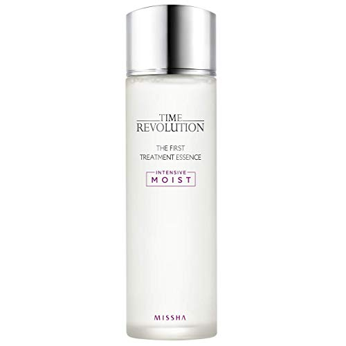 Missha Time Revolution The First Treatment Essence Intensive Moist - Kbeauty concentrated essence with moisturizing antioxidants to moisturize & refine - Amazon QR Code Verified for Authenticity