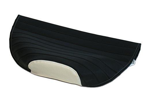 AKF Sitzbezug strukturiert, schwarz/weiß ohne Logo - für Simson S53, S83, SR50, SR80