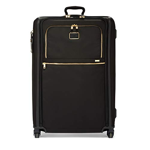 TUMI - Alpha 3 Extended Trip Expandable 4 Wheeled Packing Case Suitcase - Rolling Luggage for Men and Women - Black/Gold