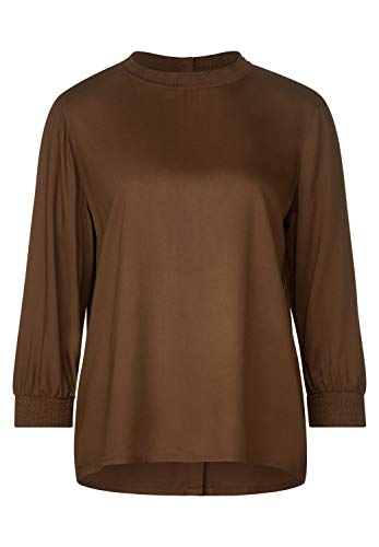 Street One Damen Gesmokte Bluse Otter Brown 36