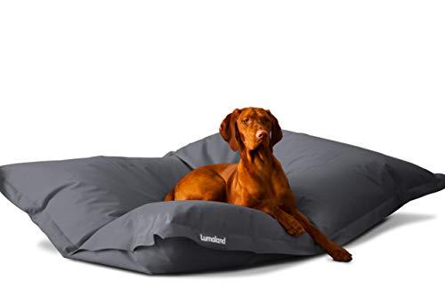 Hundekissen aus leicht abwaschbaren Material für große & kleine Hunde | Hundesofa Hundebett Schlafplatz Ruheplatz Hundematratze 320L / 140x180cm Grau
