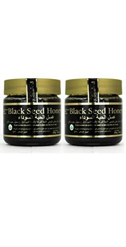 Original svart fröhonung, ren bergshonung med svart frö (Nigella) lämplig för vegetarisk (2 x 250 g)