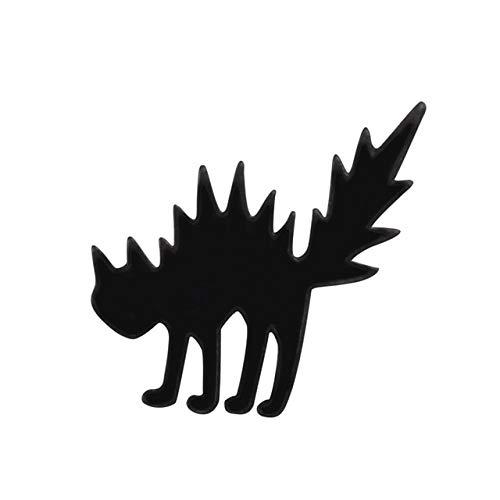Alfileres Anime Broches Bebé Magia Pin Insignia Mujeres Gato Hueso Toro Vaca Zorro Pulgar Máscara Botón De Solapa Alfileres Esmaltados Joyería-Gato