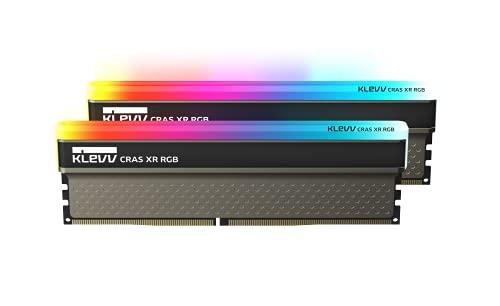 KLEVV CRAS XR RGB Kit de 16GB (8GB x2) 4000MHz Memoria para Gamers DDR4-RAM XMP 2.0 Overclocking de Alto Rendimiento