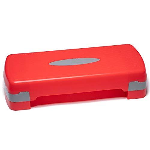 PRISP Step para Fitness 68 cm; Ajustable en 2 Alturas (10 15cm); Stepper Aerobic para su Gimnasio en casa; 68 x 28 cm