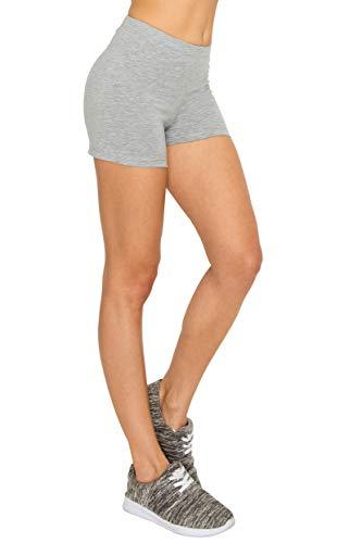 EttelLut Cotton Active Running Bike Leggings-Athletic Exercise Yoga Walking 7'/3' Shorts
