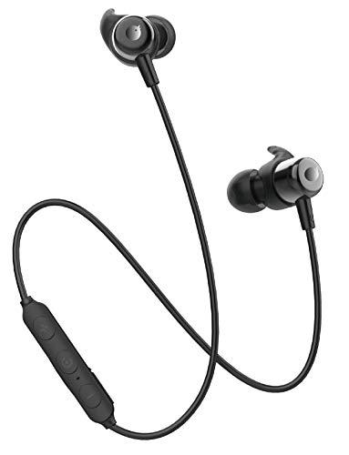 【進化版 Bluetooth 5.0 IPX5防水】Bluetooth イヤホン Tuddrom CVC6.0ノイズキャンセリング ブルートゥース マグネット搭載 10時間連続再生 マイク付き ハンズフリー通話 ステレオ ワイヤレスイヤホン Bluetooth ヘッドホン iPhone Android 対応