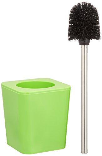 WENKO WC-Garnitur Candy Green - WC-Bürstenhalter, Polystyrol, 11.5 x 39 x 11.5 cm, Grün