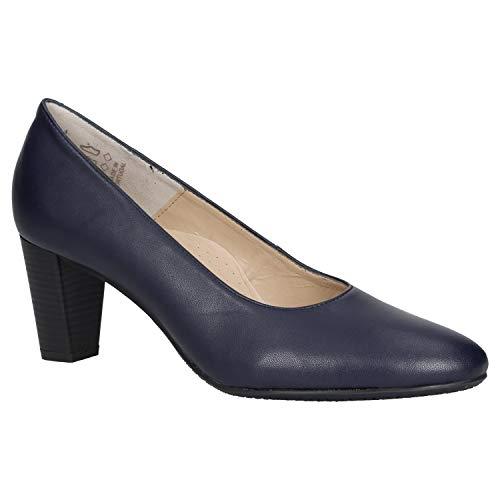 Zweigut® echt #424 Damen Business Pumps mit Komfort-Fußbett Cruelty-Free vegan, Schuhgröße:38, Farbe:dunkelblau