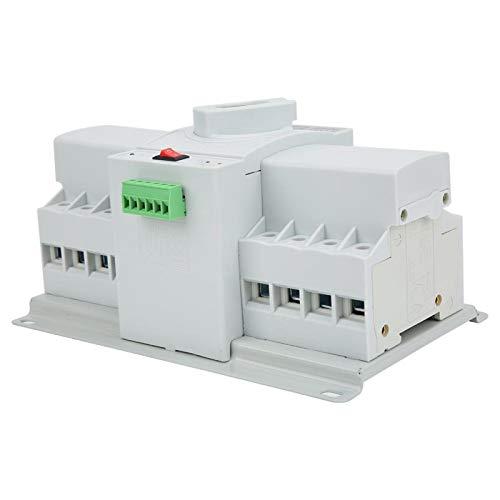 Voluxe Interruptor de Transferencia automática de Doble Potencia 4P 63A 220V Interruptor de Palanca Interruptor de Cambio automático de Doble Potencia