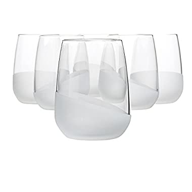 Bormioli Rocco Satin Wave Tumbler 14.5 Ounce, Set of 6