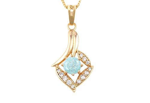 Remi Bijou Elegante ketting met steen hanger - cadeau goudkleur
