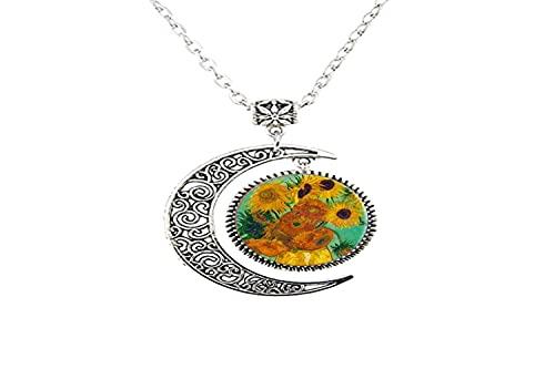Van Gogh - Collar con diseño de girasoles para mujer