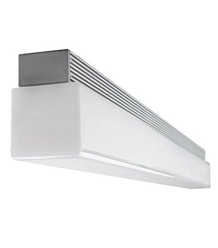 Gedotec LED Design Spiegelleuchte Anbauleuchte Bad-Lampe STRATOS 2.0 Aluminium | Länge 415 mm | Bad-Lampe Energieeffizienz A++ | Deckenleuchte warmweiß 3000 K | Schutzklasse IP44 geprüft | 1 Stück
