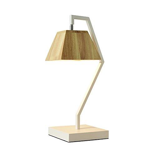 uus Lampe de table Métal Solide Bois Chambre Chevet Lampe E27 Ampoule Base 25 * 49cm Lumière Chaude (Économie d'énergie A +) (Couleur : Warm light25*49cm)